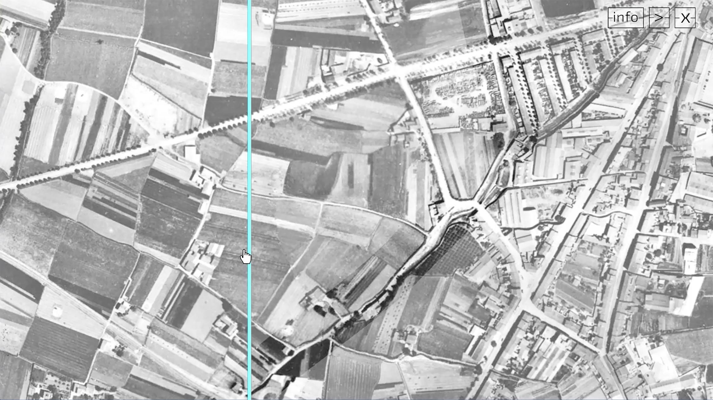 secuencia fotografás 1944 primera versión aplicación interactiva