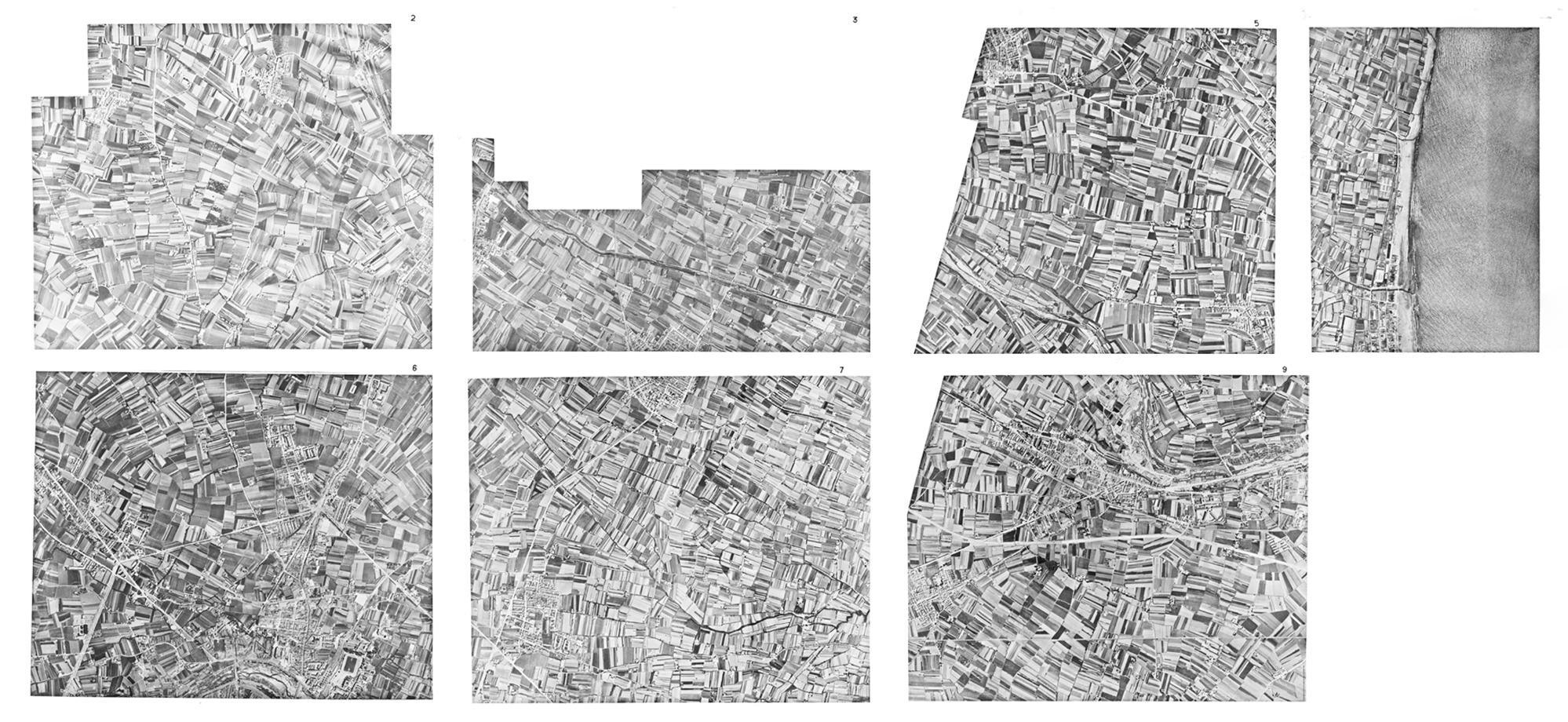 fotomontaje de las fotos aéreas de 1944