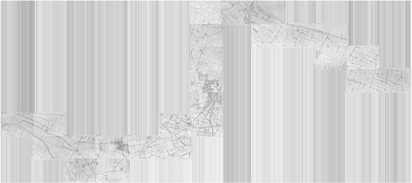 montaje de los planos del tramo de la acequia